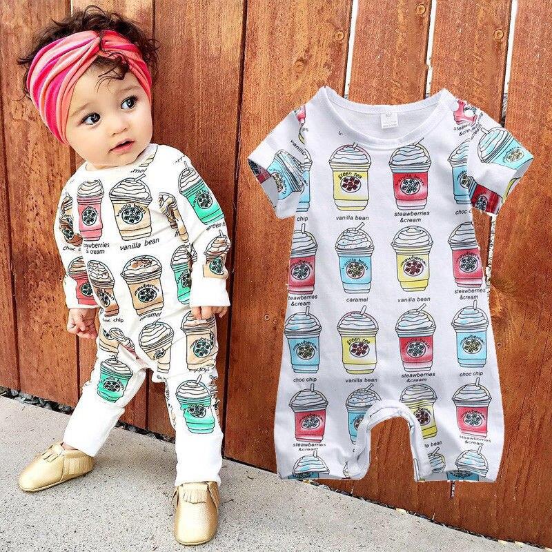 2016 Neue Netter Babyspielanzug 0-24 Mt Neugeborenen Toddle Kinder Langarm Eis Overall Einem Stück Bebes Jungen Mädchen Kleidung