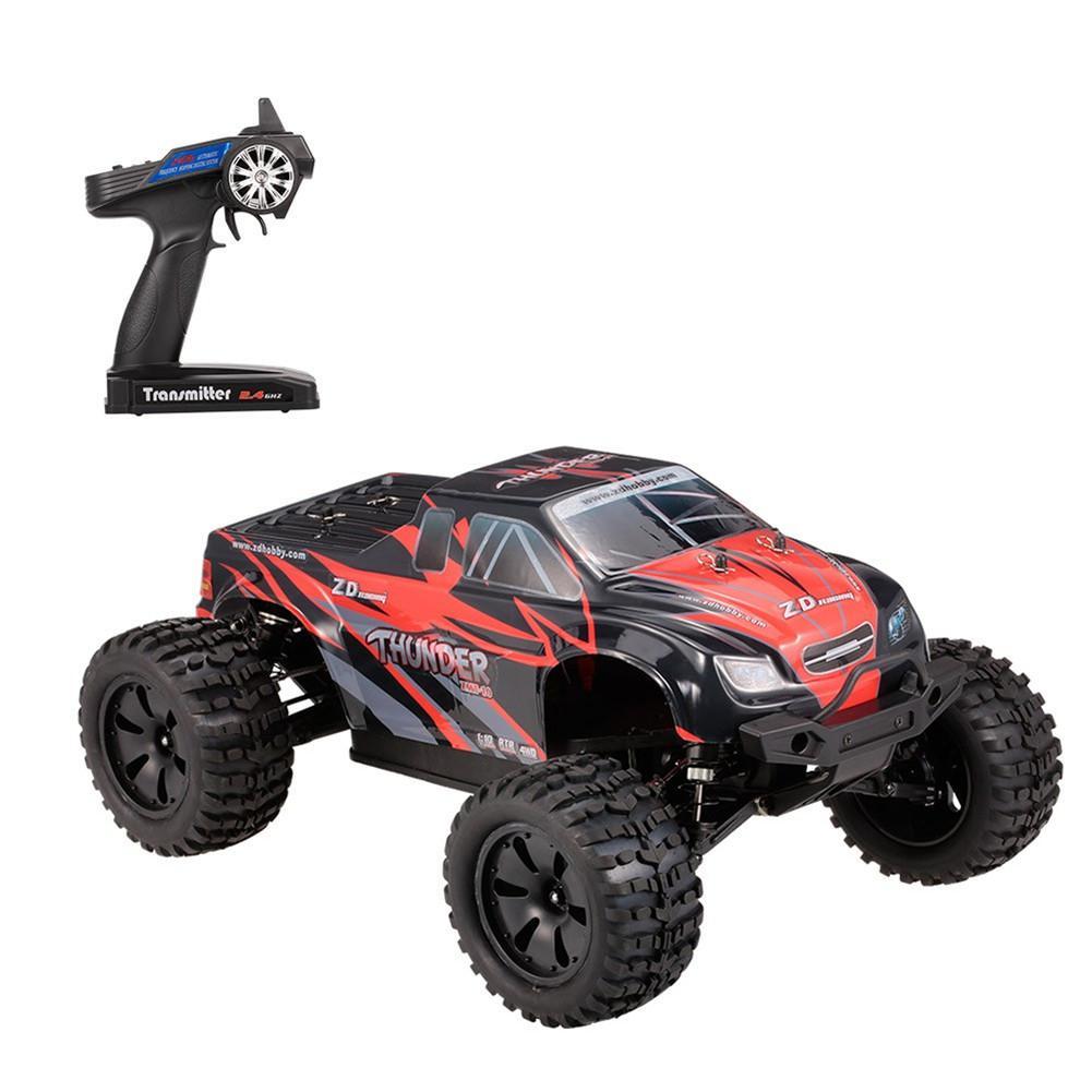 RCtown ZD Racing 9106 S 1/10 Thunder 2.4G 4WD bezszczotkowy 70 km/h wyścigi RC samochód Monster Truck RTR zabawki w Samochody RC od Zabawki i hobby na  Grupa 1