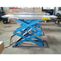 Capacity 3000 Kgs Ultrathin Scissor Car Lift With High Quality Steel Plate
