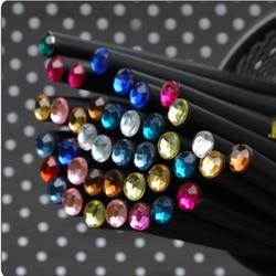Diy cute kawaii wooden black wood pencil hb acrylic diamond standard pencil for drawing painting supplies.jpg 250x250