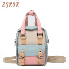Woman Mini- Back Pack Bag Female Casual Nylon Backpacks For Teenagers Girls Designers Panelled Bagpack Small Backpack