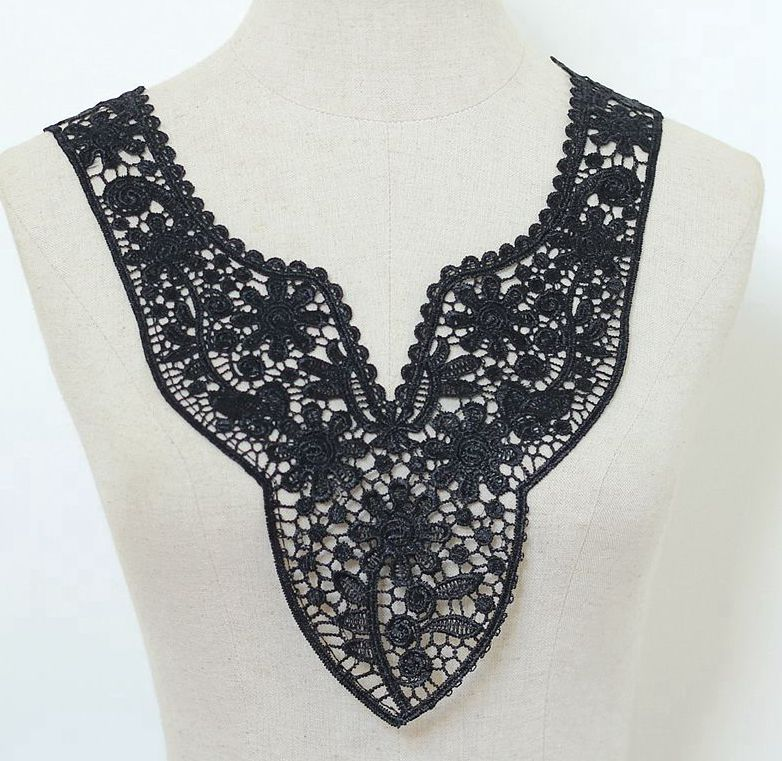 1  1PC Lace Trim Multi Style Flower Neckline Lace Collar Fabric Trim DIY  Embroidery Lace Fabric Neckline Applique Sewing Craft-in Lace from Home    Garden da8136441fc8