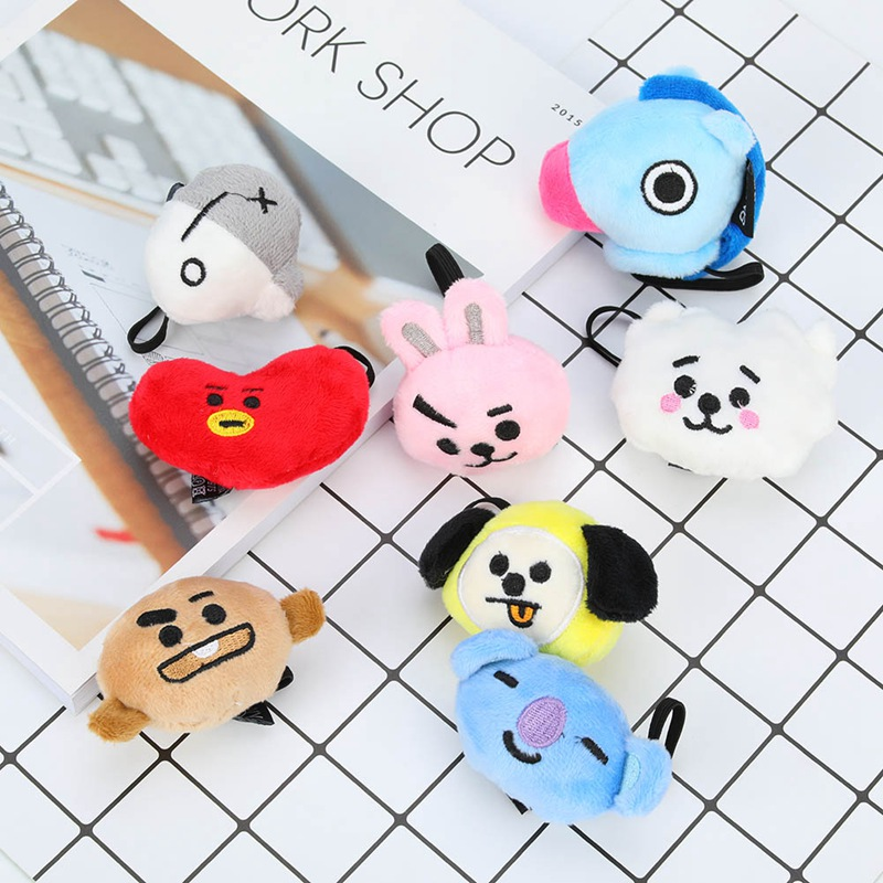 2018 New Hot BTS BT21 Hair Tie Bangtan Boys Womens Cute hair rope for girls Gifts