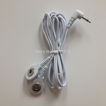 Freeshipping 100pcs/lot DC 2.5mm 2 in 1 TENS unit electrode lead wires/cable snap 3.5mm for TENS/EMS machine