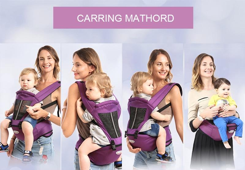 Newborn Baby Carrier Kangaroo Toddler Sling Wrap Portable Infant Hipseat Baby Care Waist Stool Adjustable Hip Seat 0-36 Months (1)