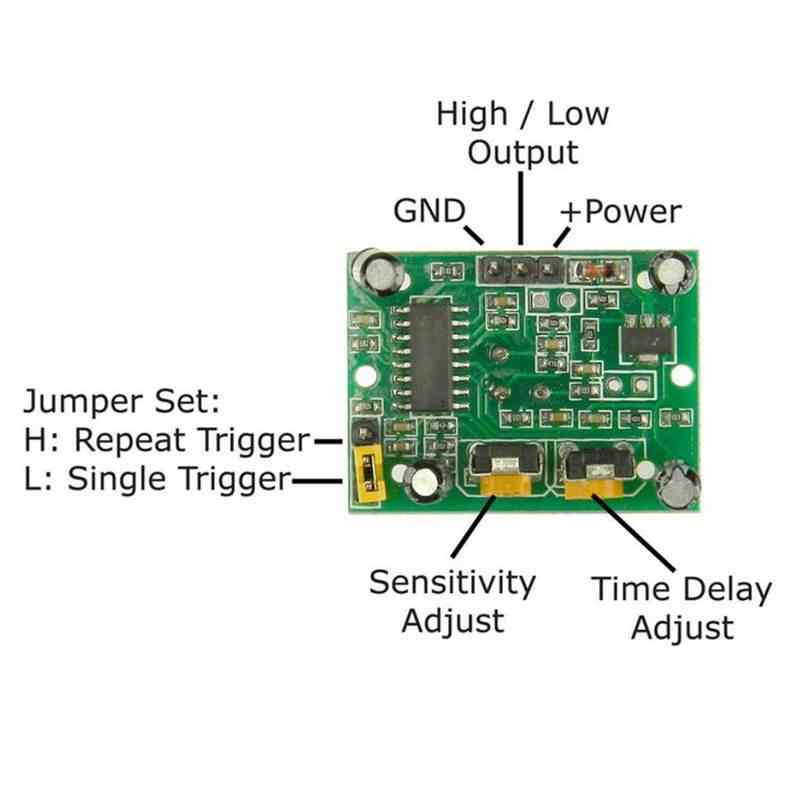 DC5 ~ 20 в Мини ИК пироэлектрический инфракрасный ПИР движения человека сенсор автоматический детектор модуль для светодиодный свет завод безопасности устройства