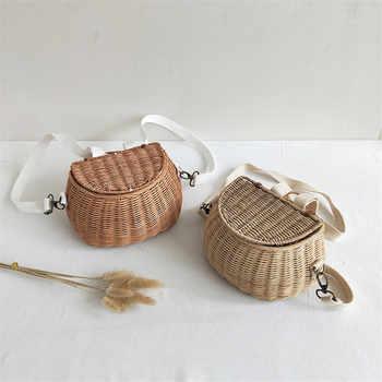 Small big Back Basket Children Bicycle Basket Handmade Tattan bag Basket kid\'s backpack - DISCOUNT ITEM  25 OFF Luggage & Bags