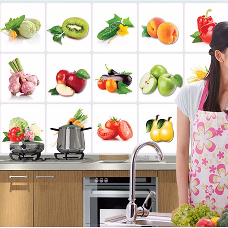 Kitchen Oilproof Removable Wall Stickers Art Decor Home