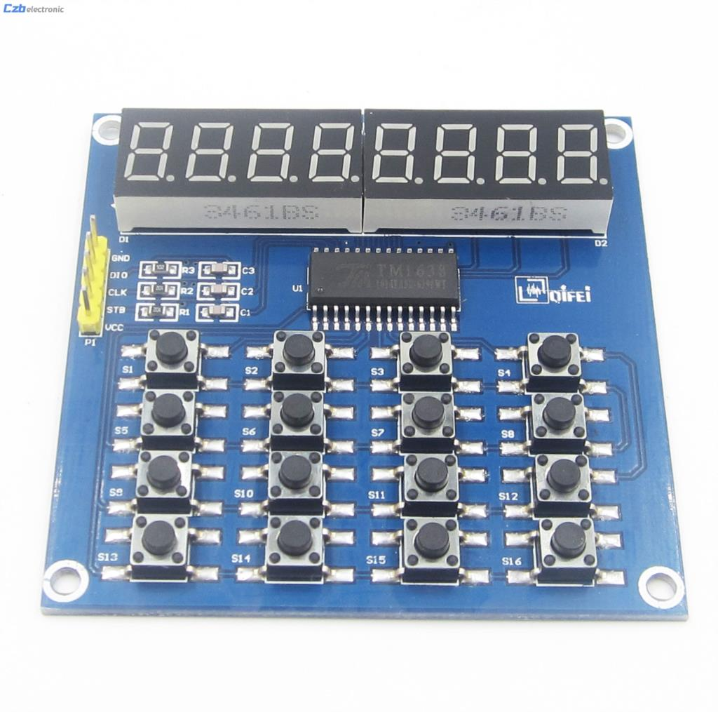 DIY Kit Parts TM1638 8 Bits LED Digital Tube Module Keyboard Scan and Key Display Module For Arduino