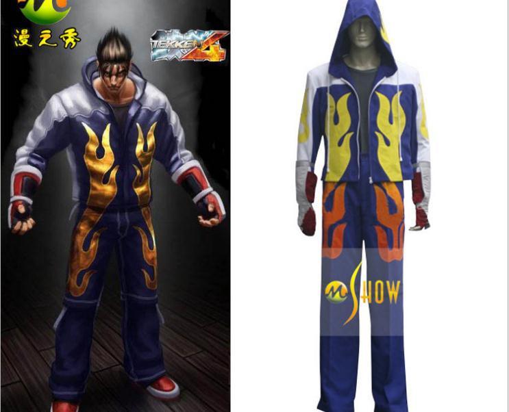 Anime Tekken Kazama Cosplay Costume Jin Kazama Cos Cosplay Costume