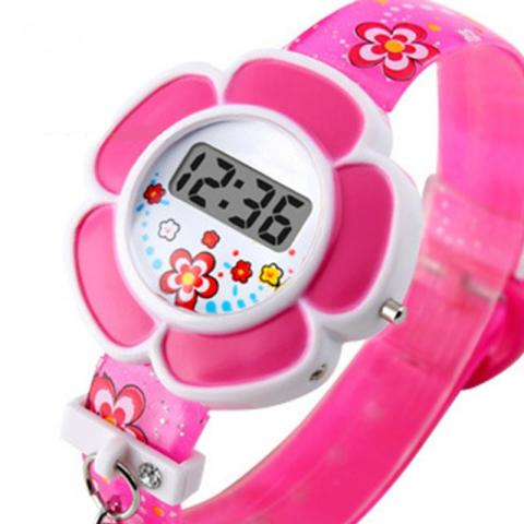 Lovely Kids Watches Flower Cute Children Watches Cartoon Silicone Digital Wristwatch For Kids Boys Girls Wrist Watches Relogio Karachi