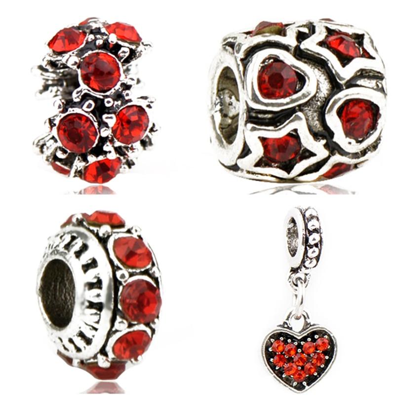 Beads Punk Style Enamel Love Heart Umrella Santa House Monkey Flower Charm Beads Fit Pandora Bracelets For Women Diy Making Jewelry Jewelry & Accessories