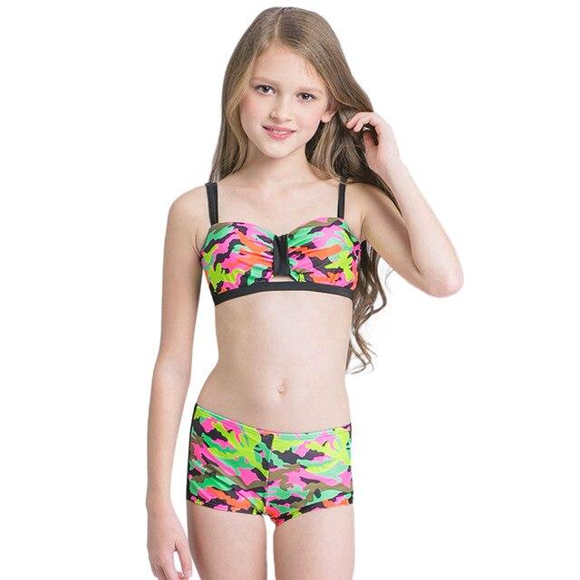 bcd3d70fc9394 ARLONEET Baby Girl Swimwear Cute Girl Camouflage Swimsuit Bathing Bikini Set  Outfits Children 4 to 8 Years Drop Shipping 30S611