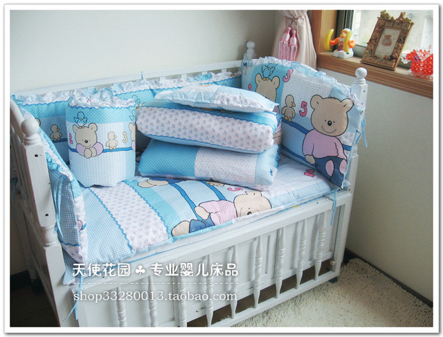 Cotton Babies Crib Covers Good Quality Bumper For Crib 5 pcs/set Baby Crib Bedding Set 120*70cm