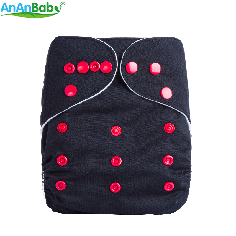 AnAnBaby All In One Size New Design 1 PCS Plain Color Cloth Diapers Breathable Pocket Diapers For Baby B-series active plain design stitching design gym leggings in purple