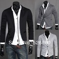 Hot Sale Blazer 2016 New Arrival Autumn Clothing men's Fashion casual Single Button men Slim terno   knitting suit Coat jacket