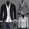 Venta caliente de la Chaqueta 2016 Nuevo Otoño de la Llegada Ropa de Moda casual de los hombres Solo Botón de los hombres Delgado terno traje de tejer Abrigo chaqueta