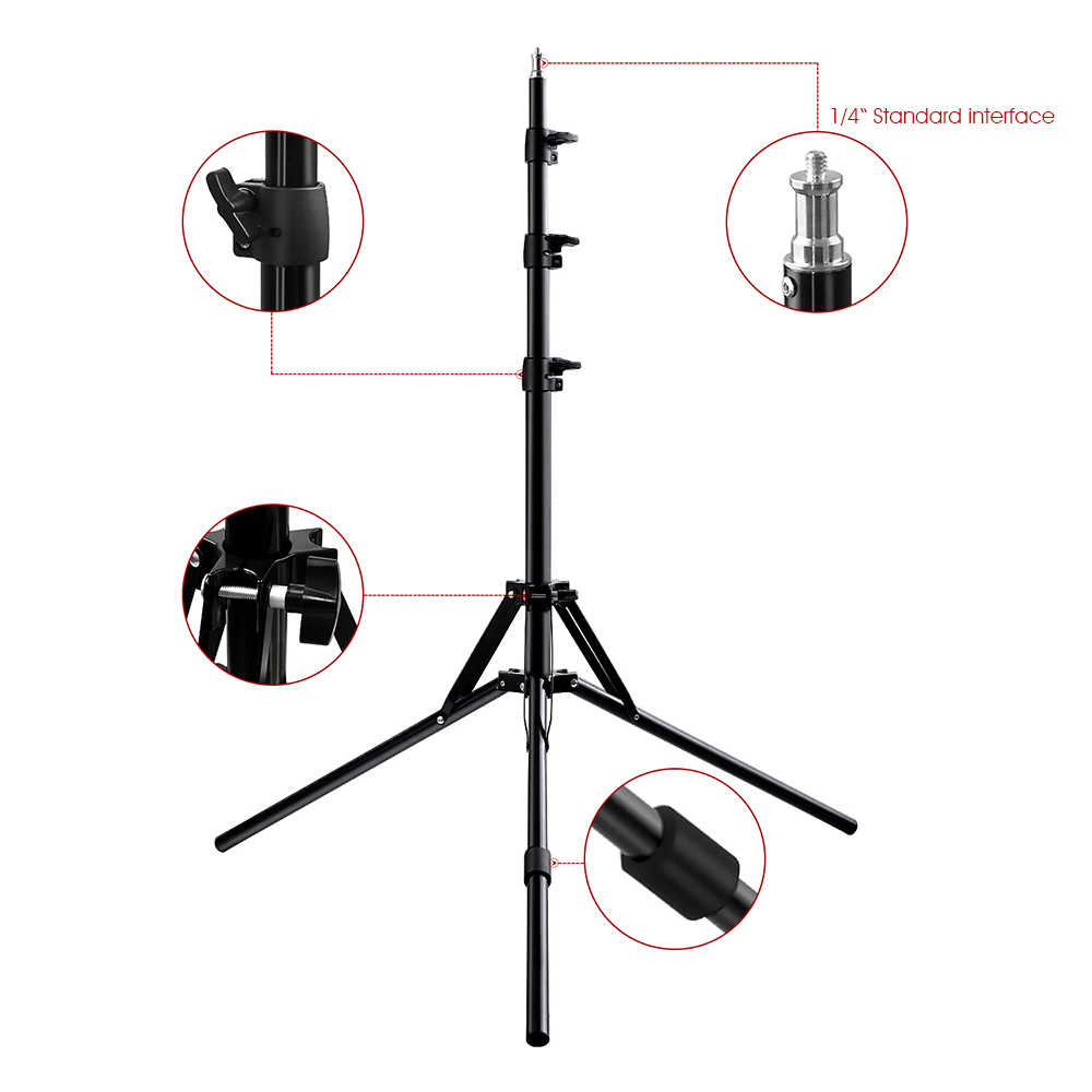 Capsaver алюминиевый штатив складной светильник с 1/4 винтом Поддержка камеры светодиодный светильник-кольцо фото видео фотографический штатив