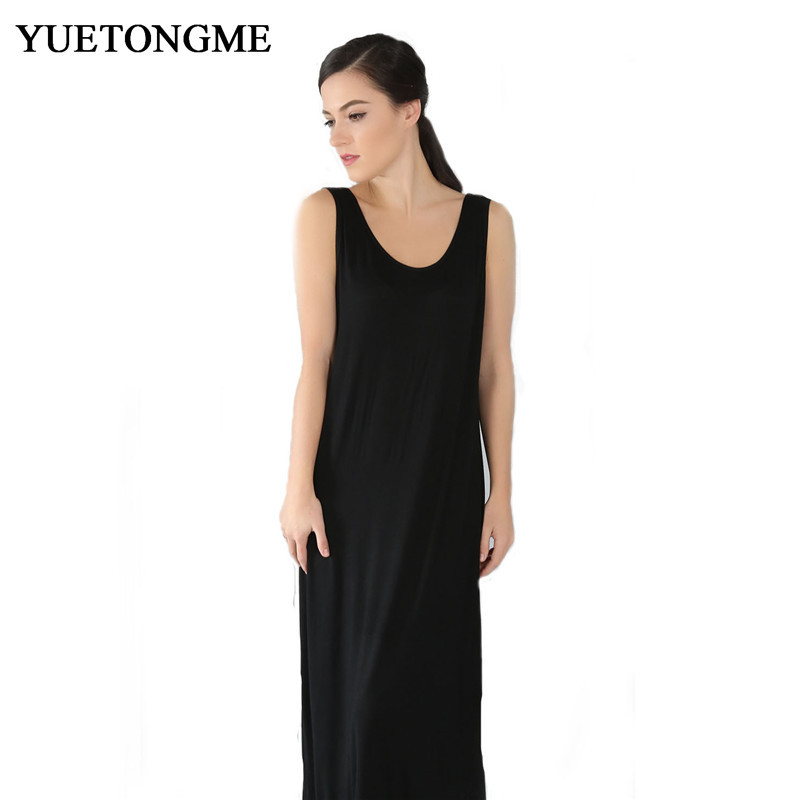 YUETONGME XL 6XL plus size long dress 2018 maxi dresses vestidos Sexy black pink summer and