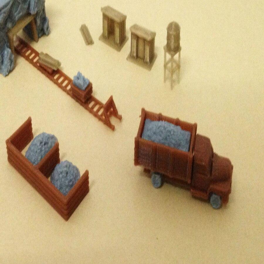 Tren ferrocarril modelo escena N relación 1: 160 Área de minería traje de escena para 1:144