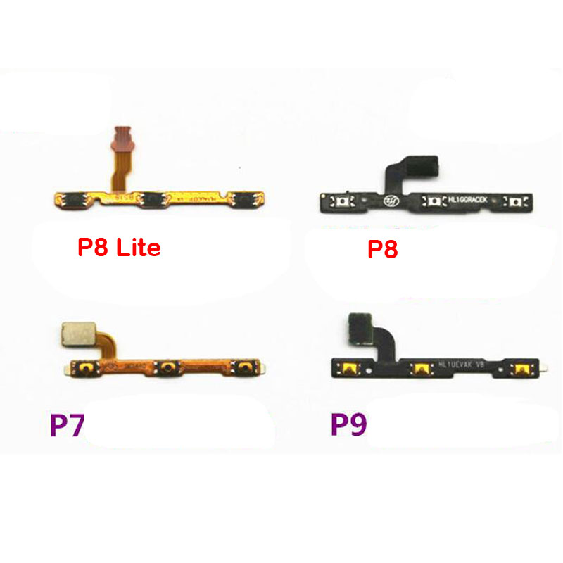 New Power Volume Button Flex Cable For Huawei P7 P8 Lite P9 Plus P10 Lite P20 Replacement Parts