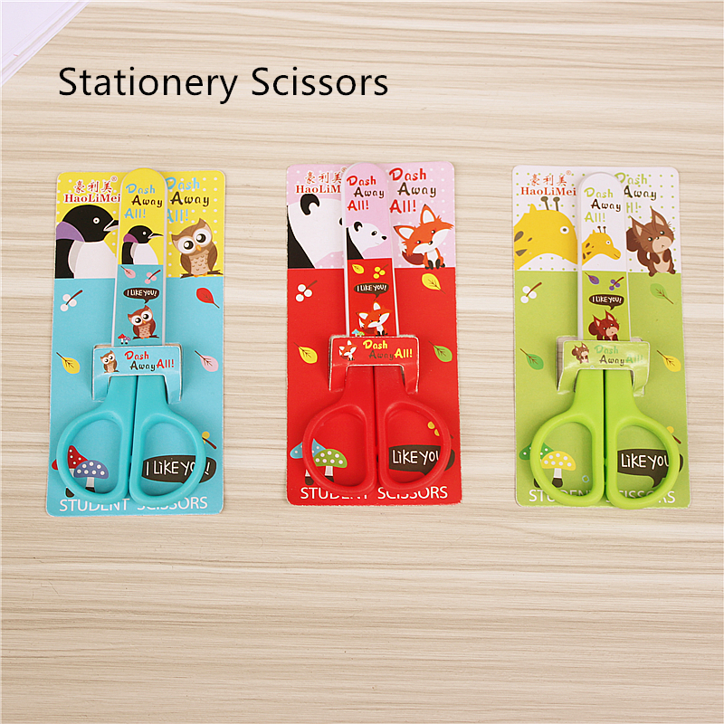 Colors Cute Animal Student Safety Scissors Mini Office Supplies Scissors High-quality Office And School Stationery