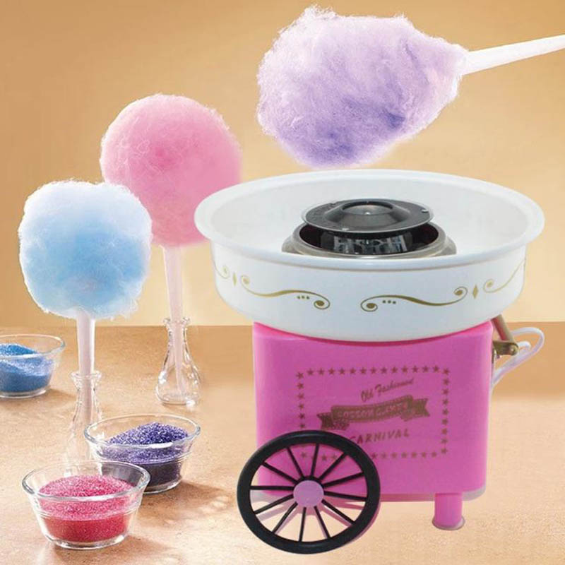 Electric Mini Sweet cotton candy maker nostalgia DIY Cotton Candy sugar machine for kids gift children girl boy Christmas 220V часы hama nostalgia mini h 113924
