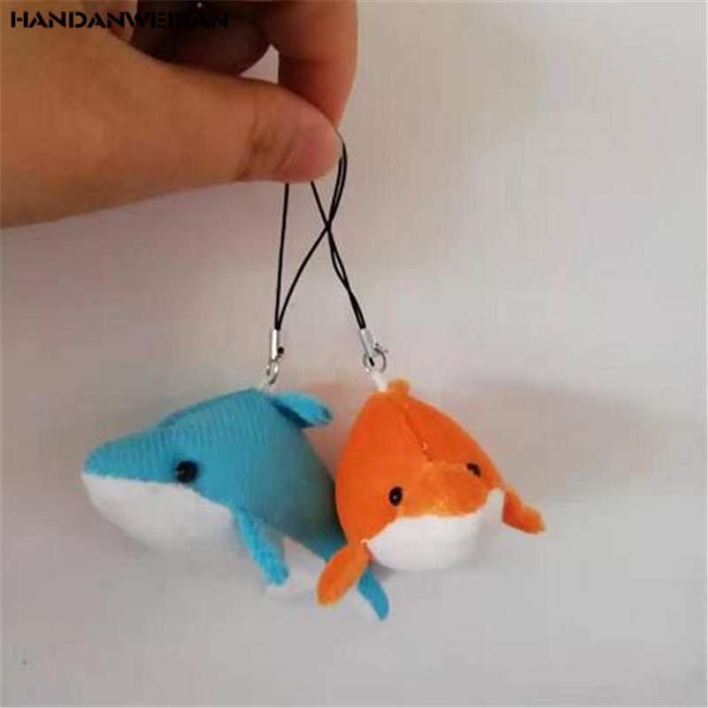 2PCS Mini Plush Dolphin Toys Marine Animal Series Soft Stuffed Toy Small Pendant Activities Valentine Gift For Kids 8CM