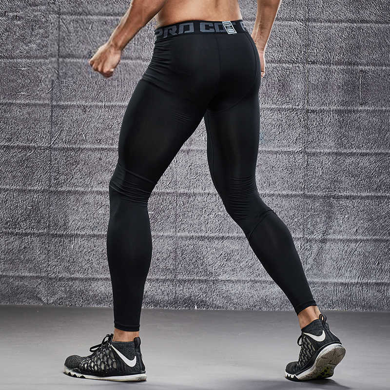 New Men Compression Base Layer Running Tights Pants Jogging Soccer Basketball Football Training Pant Sports GYM Fitness Leggings