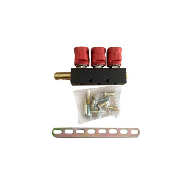 3 ohm szyna wtryskiwacza do systemu gazu LPG CNG do samochodów zestawy 3 cylindrów wspólna szyna wtryskiwacza i akcesoria