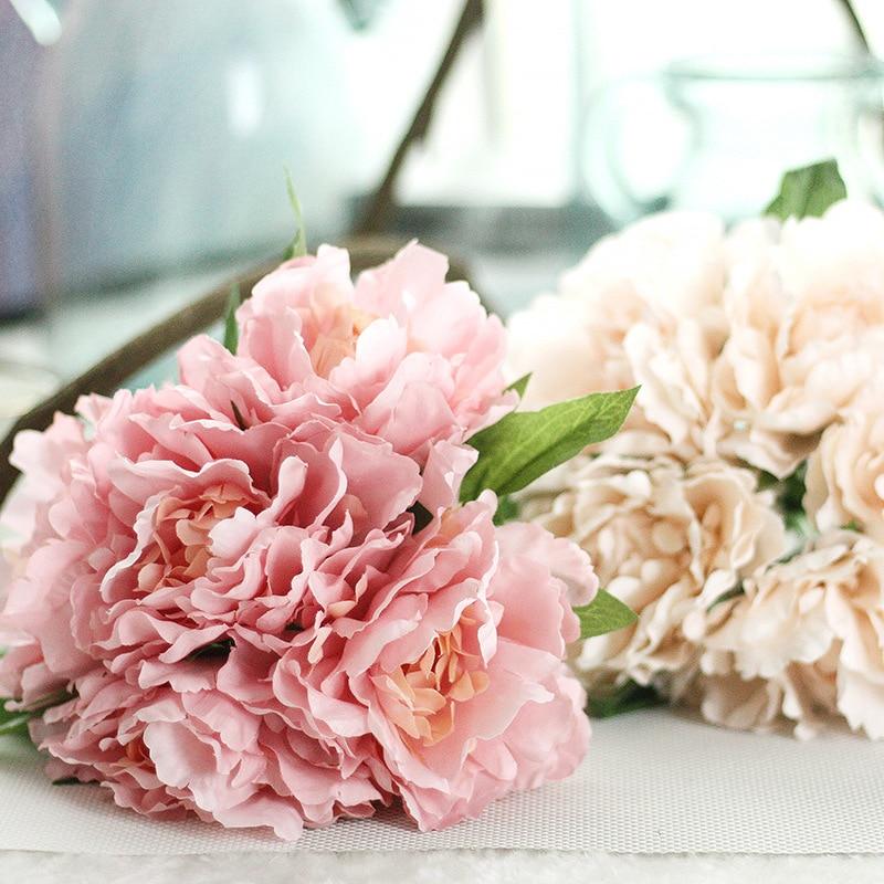 artier peony tiffany blue fancy flower foreign trade fake flower wedding bride holding bouquet gf13823