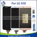Blanco negro oro para lg k10 lte k410 k420n k430 k430ds pantalla lcd táctil digitalizador asamblea piezas de repuesto + herramientas