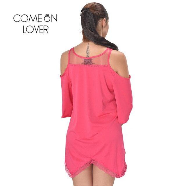 RI80190 Comeonlover Women Pajamas Sleepwear Plus Size Lingerie 5XL,7XL Hollow Shoulder Nightdress Exotic Sexy Lingerie Babydolls 5