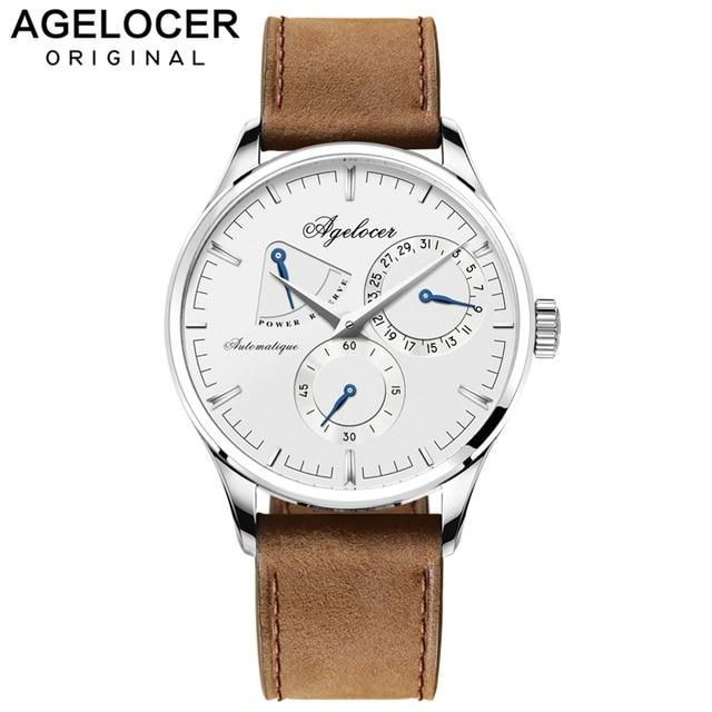 Agelocer Swiss Brand Logo Luxury Men Watch Roles Silver Gold Roman Day Calendar Automatic Watch Male wristwatch relojes hombre
