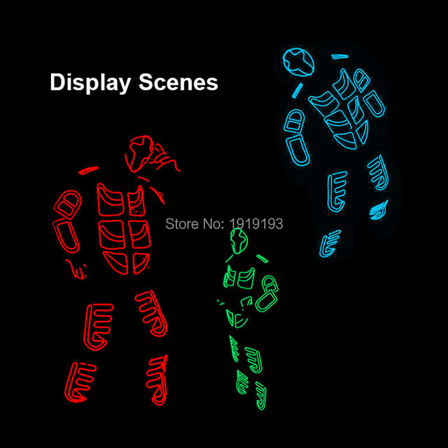 2017 New Brand Design Luminous EL wire Costumes Colorful ...
