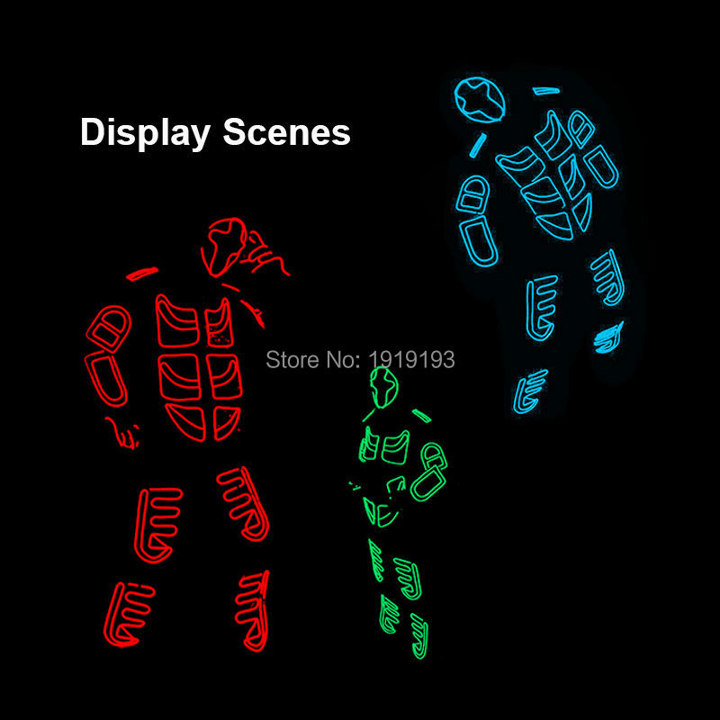 2017 New Brand Design Luminous EL wire Costumes Colorful Illuminate LED Strip Light-up Dance Clothes for Carnival, Cosplay Party