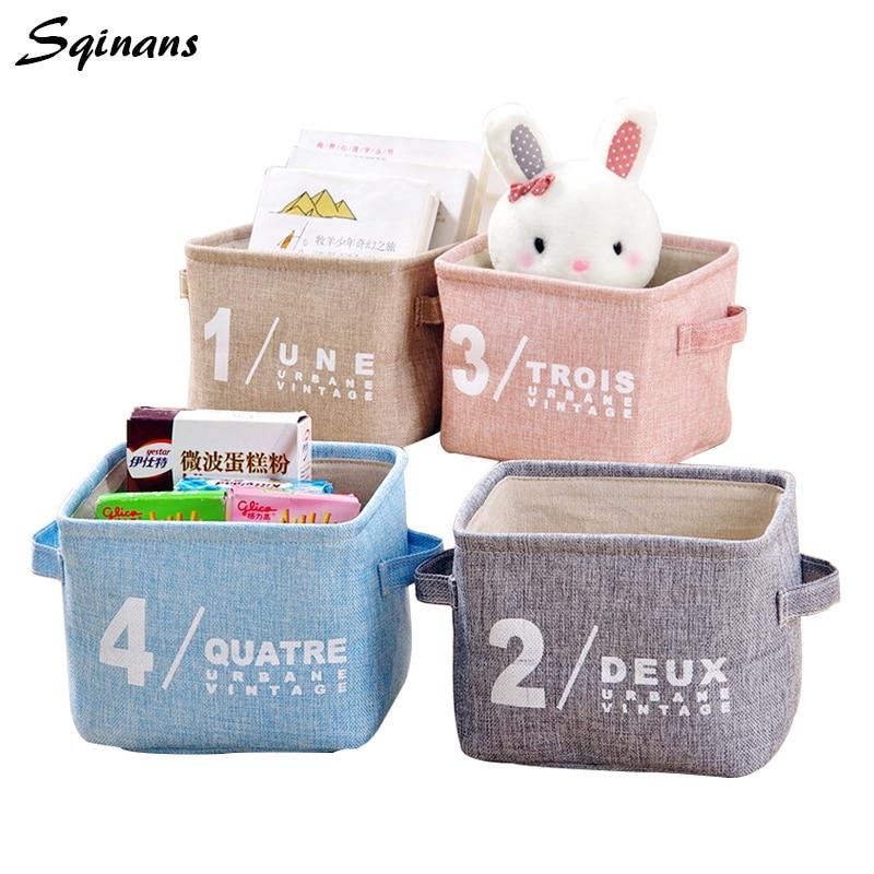 Sqinans Office Desk Storage Box Toys Organizer Box Folding Cosmetic Organizer Makeup Storage Jewelry Box