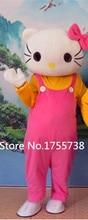 High quality Hello Kitty cartoon mascot mascot costume Halloween costume dress style free shipping