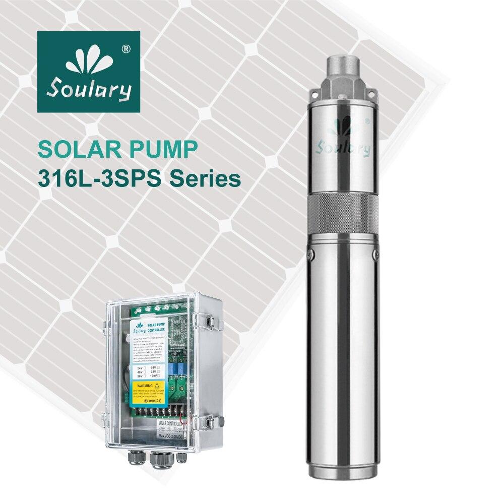 (DHL Livraison Gratuite) SS316 Top-Qualité 3' DC Submersible Solaire Pompes pour L'irrigation (2.3m3/hr-140m) (modèle: 3SPS2. 3/140)