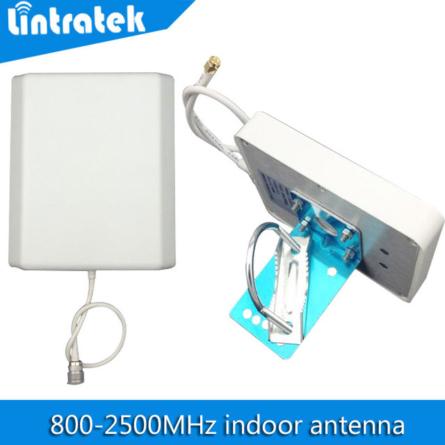 Antena Panel interior 800 mhz-2500 hz Antena GSM 3G 2100 mhz Señal Del Teléfono Móvil Conector Tipo N 8dBi Antena Celular Interna