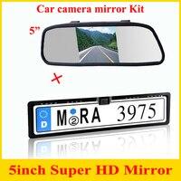Promoção 2 em 1 CCD europeu licença Car rear view camera + 5