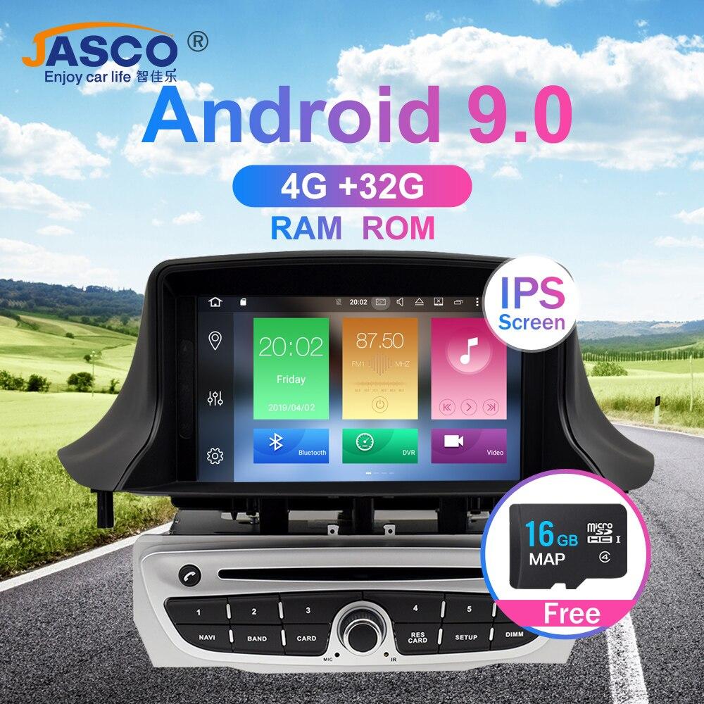 Android 9.0 carro estéreo dvd player gps glonass navegação para renault megane 3 fluência 4 gb 32g vídeo multimídia rádio