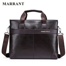 MARRANT High Quality Messenger Bag Men Leather PU Fashion Men Messenger Bags Maletin Hombre Laptop Tote Bags Men's Briefcases