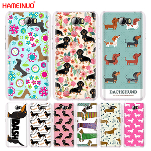 HAMEINUO dachshund doxie flower dog puppy cell phone Cover Case for Huawei Honor 5A LYO-L21 6A 6C 6X 9 NOVA PLUS lite Y3 ii 2