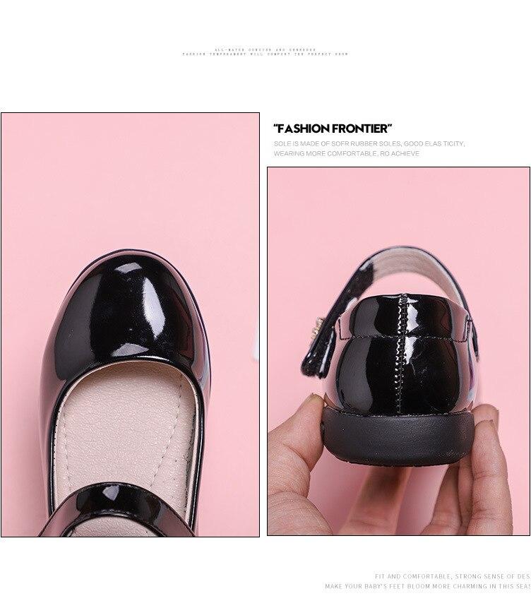 criança apartamentos respirável meninas princesa sapatos couro 02