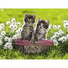 Yikee 5d Алмазная мозаика кошка продажа картина полностью квадратные