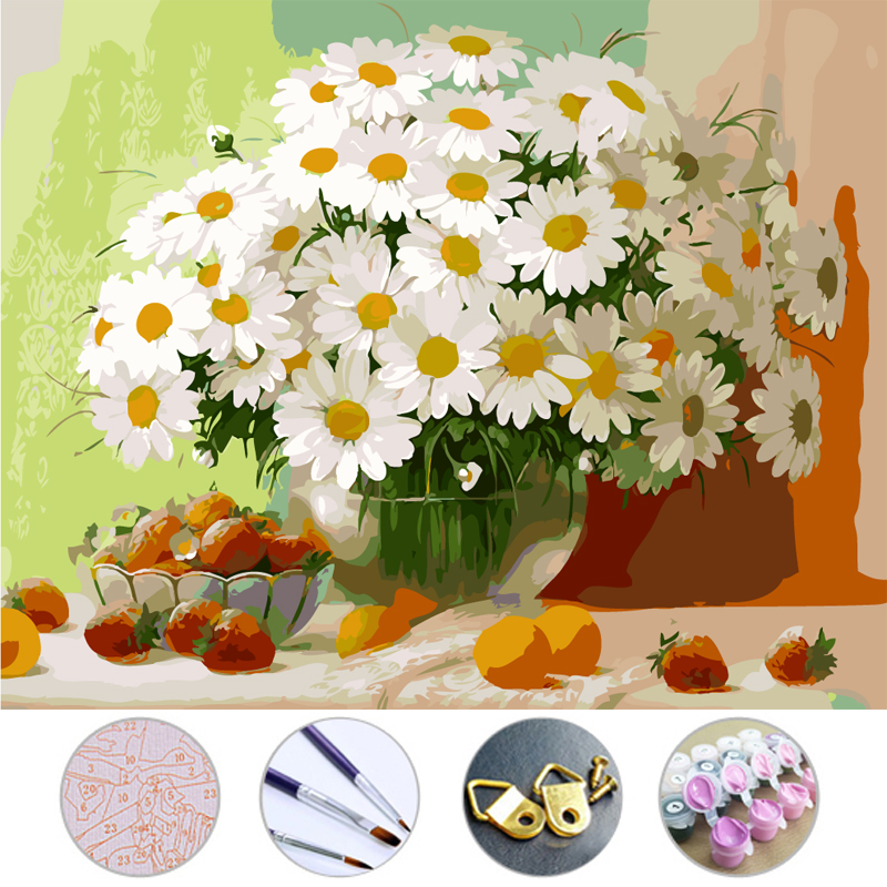 Diy Oil Painting sunflower drawing Frameless picture on ...