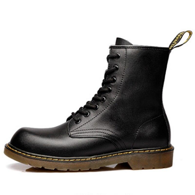 أزياء مارتن الأحذية جلد طبيعي أحذية الكاحل خمر الاحذية العلامة التجارية تصميم ريترو اليدوية المرأة الأحذية سيدة