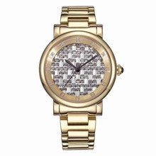 MATISSE Lady Full Crystal Dial Steel Strap Fashion Quartz Watch Gold