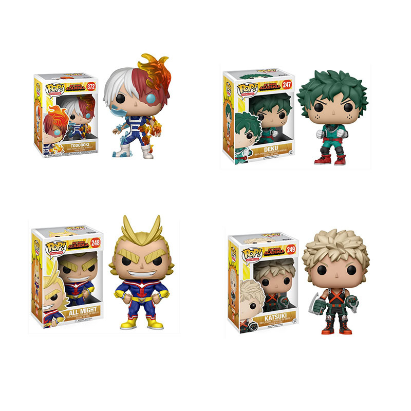 US $146 25 69% OFF|Funko POP 10cm MY HERO ACADEMIA DEKU,KATSUKI,ALL MIGHT  TODOROKI action Figure collectible Toys for children birthday gift-in  Action